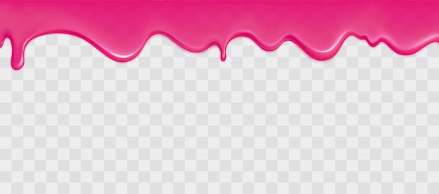 Glossy pink slime border Free Vector