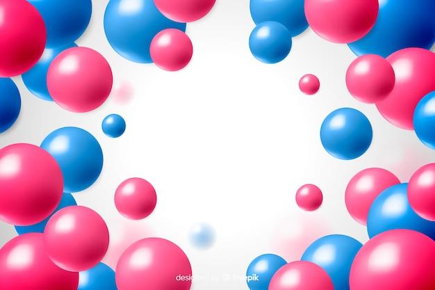 Glossy plastic balls background realistic design Free Vector