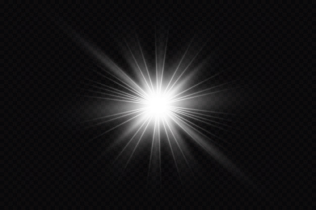 Premium Vector | Glow Light Effect On A Black Background