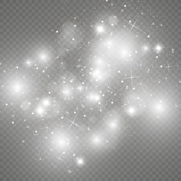 Glow light effect. star burst with sparkles.sun. Premium Vector