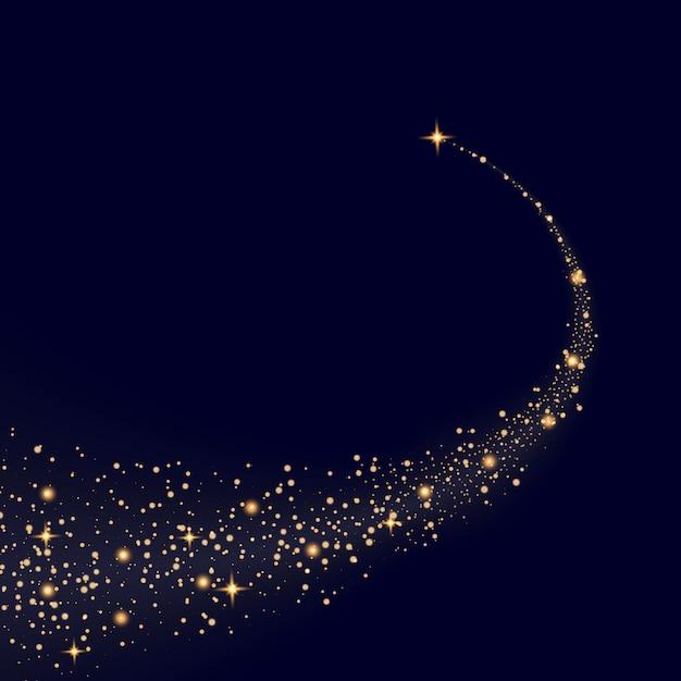 Glow light effect stars bursts with sparkles. Premium Vector