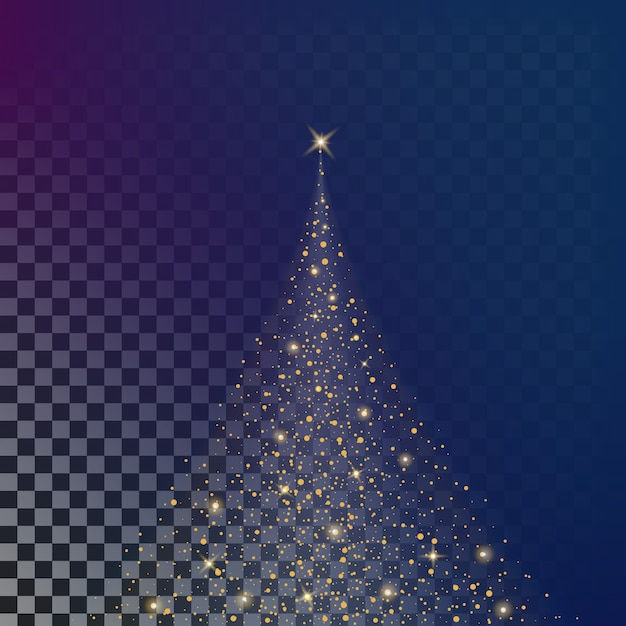 Glow light effect stars bursts with sparkles. Premium Vector