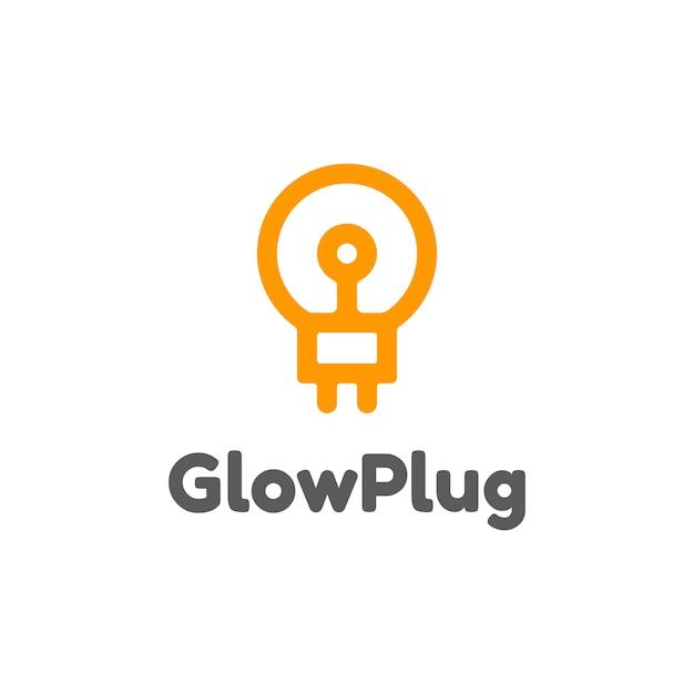 Glow Plug Logo Vector Premium Download
