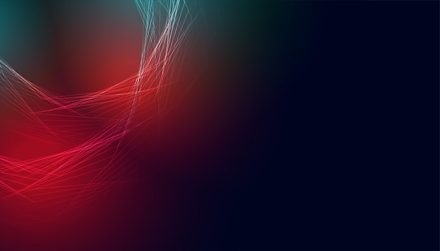 Glowing abstract banner with red and blue lights Free Vector