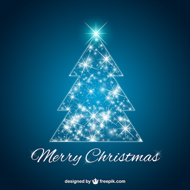 Glowing Christmas tree vector