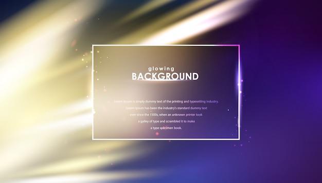 Glowing flickering lights on blurred background Premium Vector