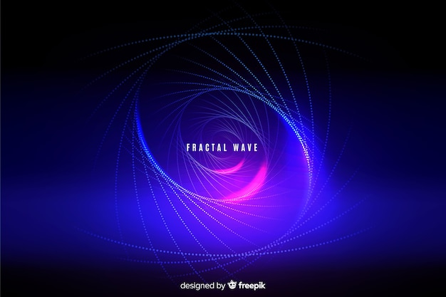Glowing fractal grid wave background Free Vector