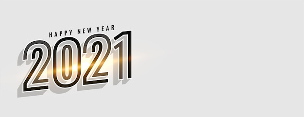 Glowing happy new year  celebration background Free Vector