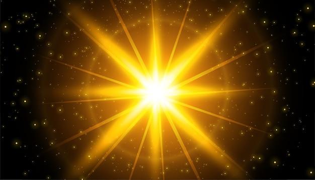キラキラと輝く光の効果の背景 無料ベクター
