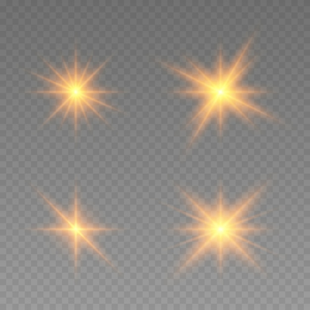 Glowing lights effect. star burst with sparkles.  abstract special effect element design. shine ray with lightning, sparkling round Premium Vector