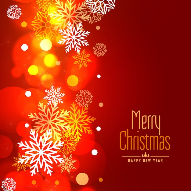 Glowing merry christmas snowflakes holiday background Free Vector