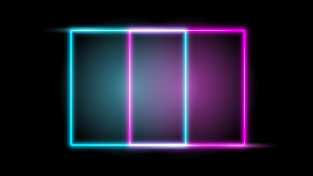 Glowing neon frame. design element Premium Vector