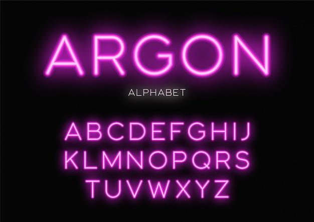 Светящиеся неоновые лица. алфавит, буквы, шрифт, Premium векторы