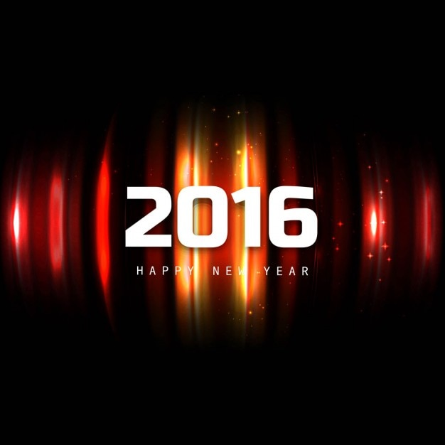 Glowing new year 2016 background