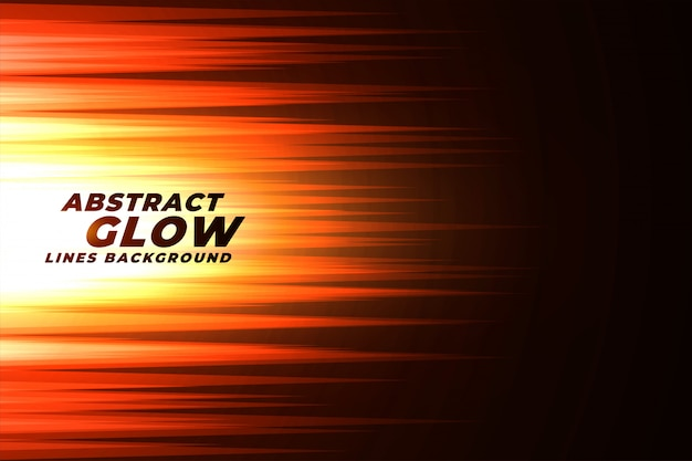 Glowing orange abstract lines background Free Vector