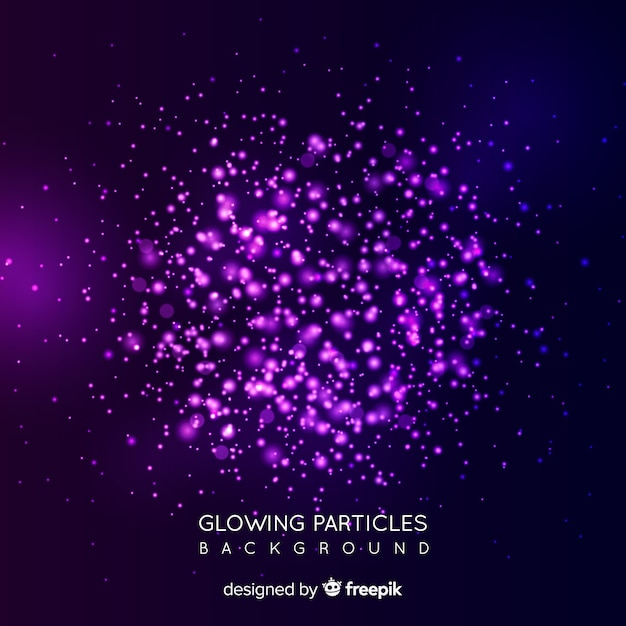 Glowing particles background Free Vector