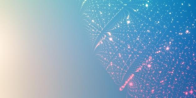 Particelle incandescenti su sfondo sfumato Vettore gratuito