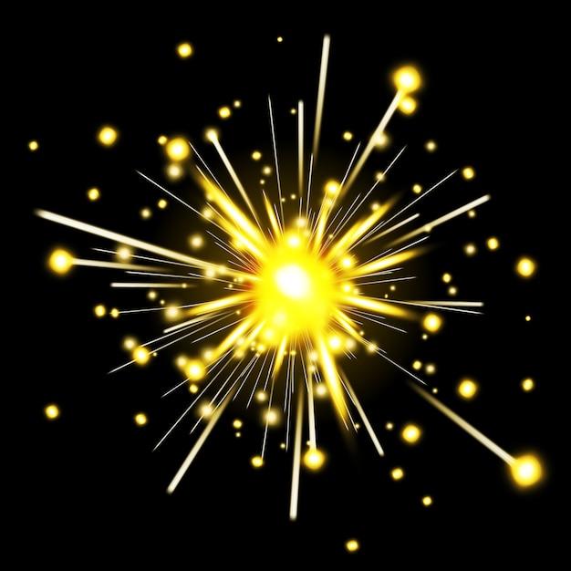 Светящийся бенгальский огонь. фейерверк на праздник, бенгальский огонь, праздник искры, векторные иллюстрации Бесплатные векторы