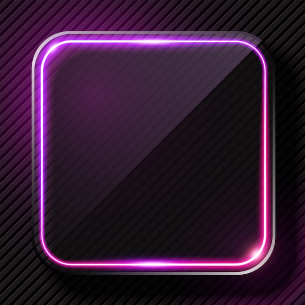 Glowing purple light banner Premium Vector