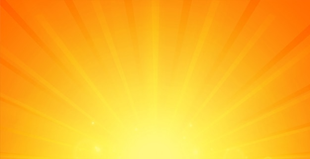 Glowing rays background in orange color Free Vector