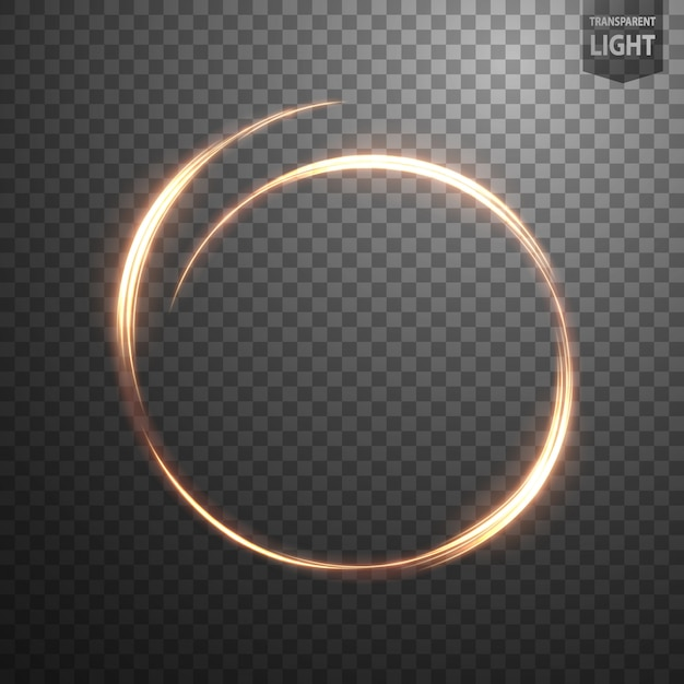 Glowing ring on transparent background Vector | Premium Download