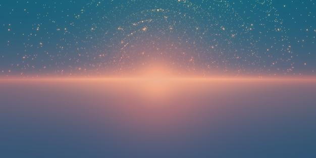 Stelle luminose con illusione di profondità e prospettiva Vettore gratuito