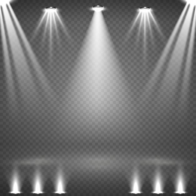 Set di faretti bianchi incandescente Vettore gratuito