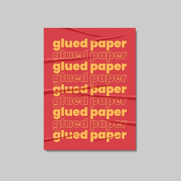 Клееный бумажный плакат реалистичный Premium векторы