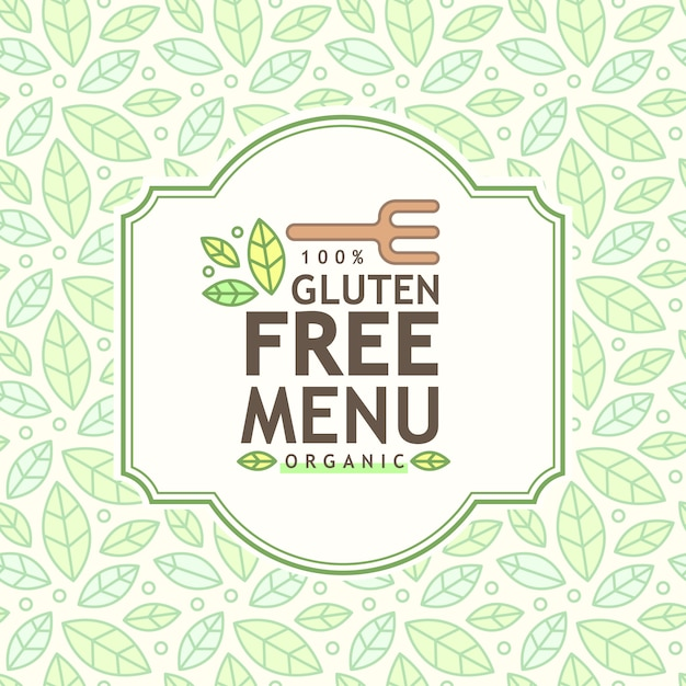 Gluten free icon, gluten free sign isolated over white