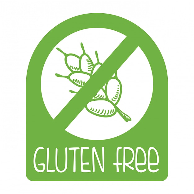 Gluten free Premium Vector