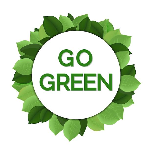 Go green day Premium Vector