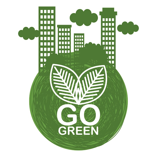 Go Green Ecology Poster Vector Premium Download