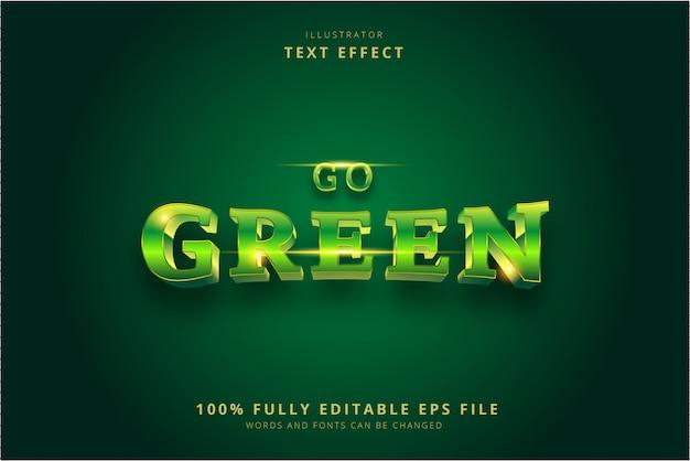 Эффект зеленого текста Premium векторы