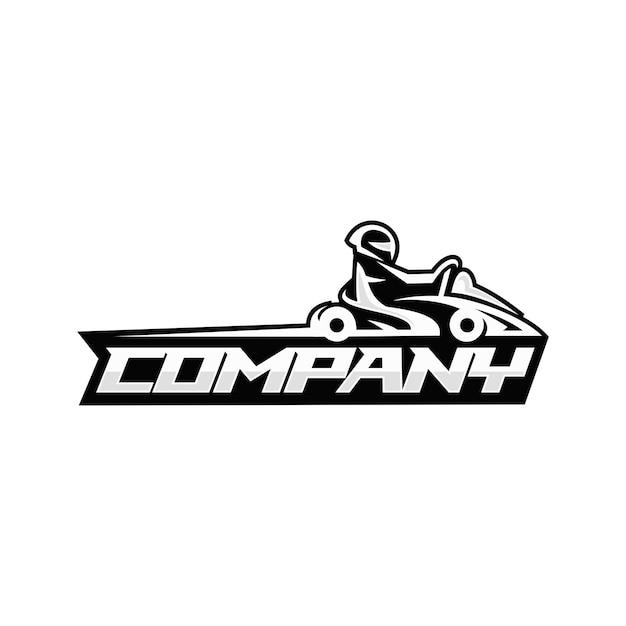 Go kart logo Premium Vector
