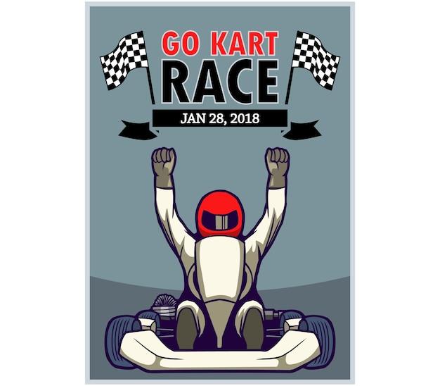 ngo kart Go Kart Race Poster Vector | Premium Download ngo kart