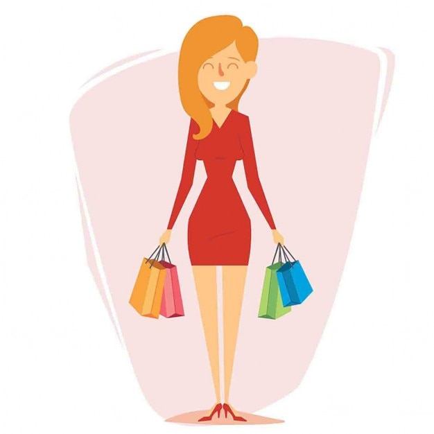 Image result for shopping cartoon images