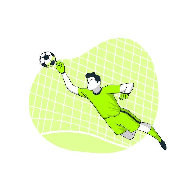 Goal concept illustration Free Vector