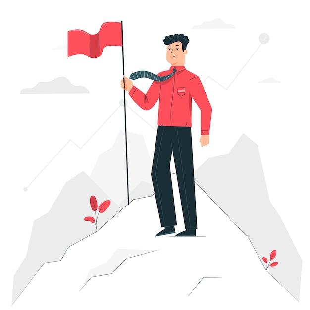 Illustrazione del concetto di obiettivo Vettore gratuito
