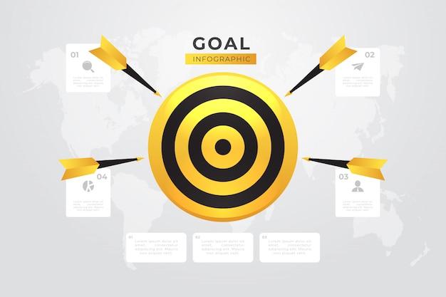 目標のインフォグラフィック Premiumベクター