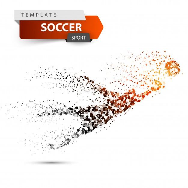 Goalkeeper jumping for the ball. Premium Vector