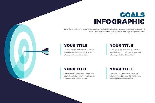 목표 Infographic 개념 프리미엄 벡터