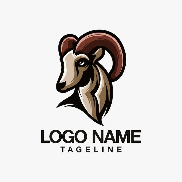 Goat logo design Premium Vector