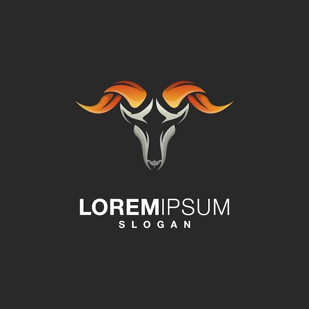 Коза логотип дизайн Premium векторы