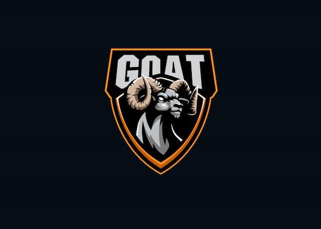 Коза сила esport талисман логотип Premium векторы