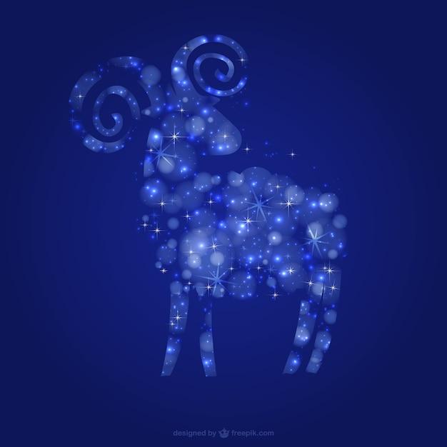 Коза со звездами Бесплатные векторы