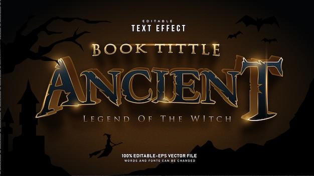 Золотой древний текстовый эффект Premium векторы