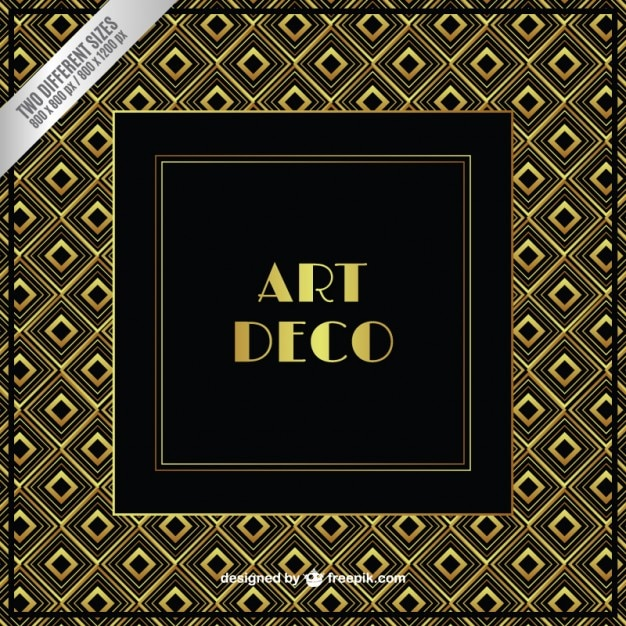 Gold art deco background vector free download gold art deco background free vector voltagebd Images