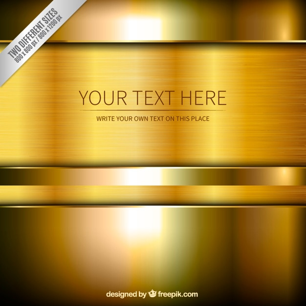 gold background template vector free download