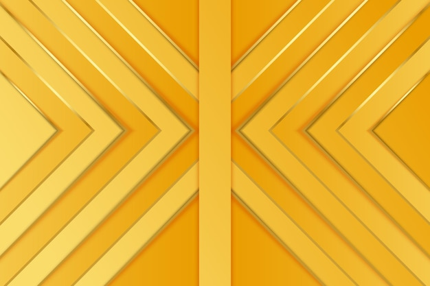 Gold background with abstract arrows Premium Vector