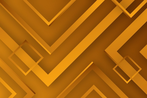 Gold background with lines and squares Free Vector